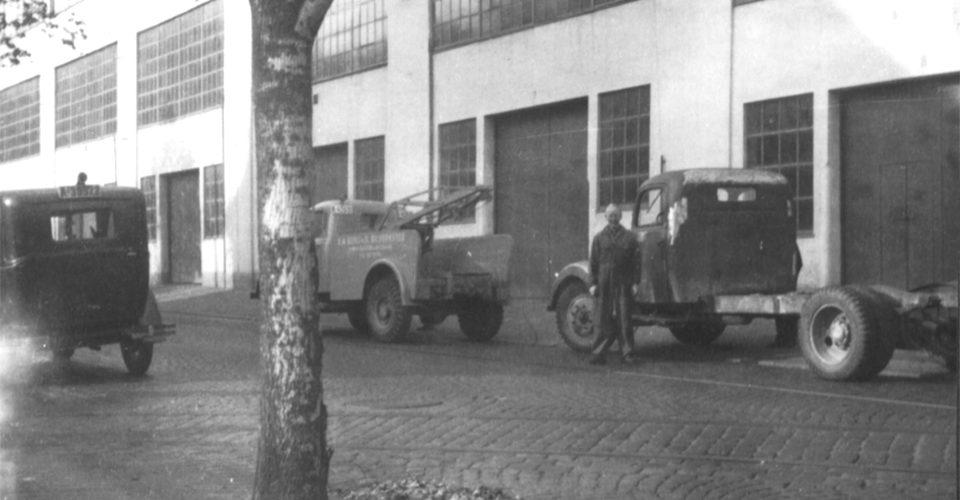 Birger N. Haug sine lokaler på Bislett i 1947