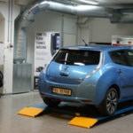 Nissan Leaf blå