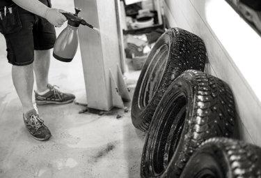 Rengjør vinterhjul