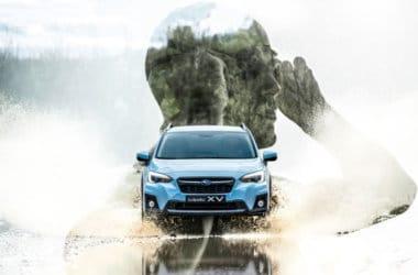Nye Subaru XV svømmer