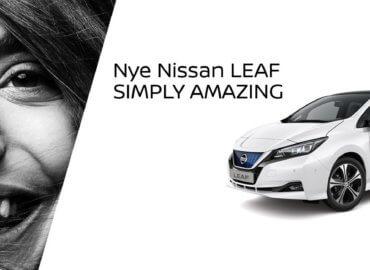 Nye Nissan Leaf hvit