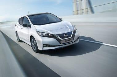 Nye Nissan Leaf hvit elbil