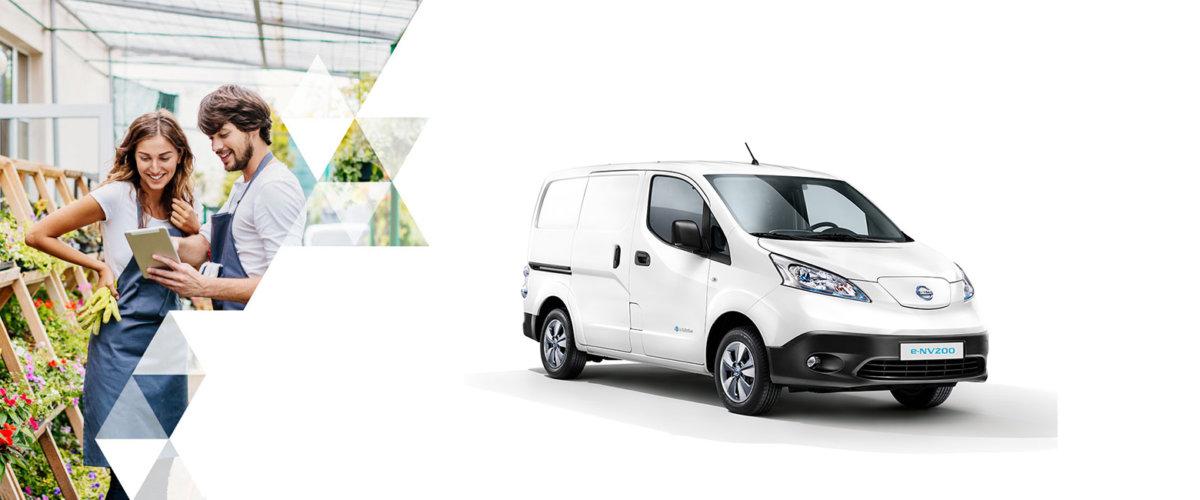 Nissan e-NV200 varebil hvit