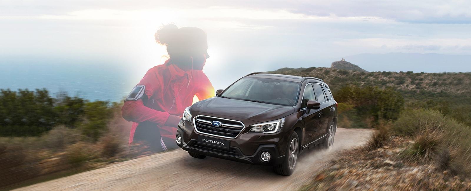 Subaru Outback på fjellvei