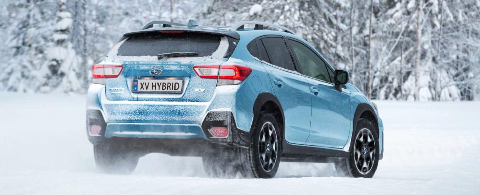 Subaru XV Hybrid på snøføre
