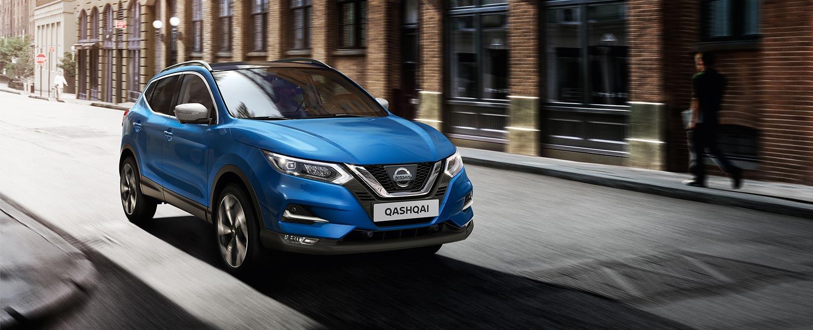 Blå Nissan Qashqai 2019