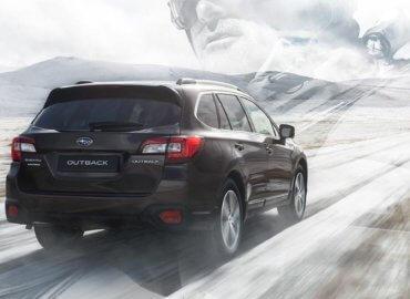 Subaru Outback på vinterføre
