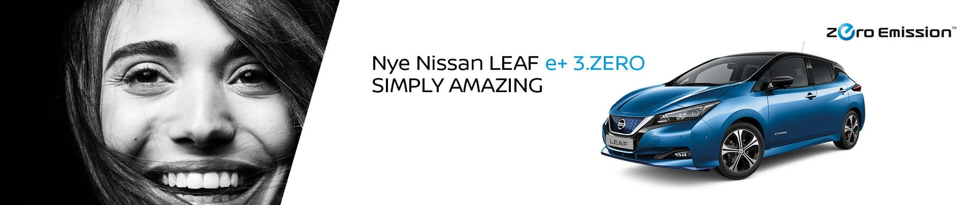 Toppbanner Nissan Leaf e+ 3.ZERO