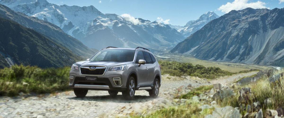 Subaru Forester Hybrid på fjellvei