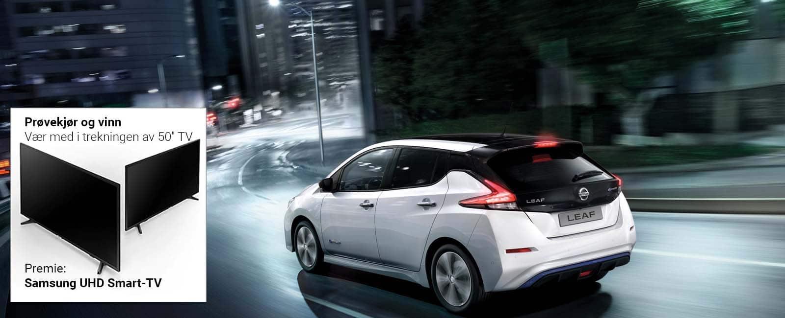 Nissan LEAF - Vinn TV venstre