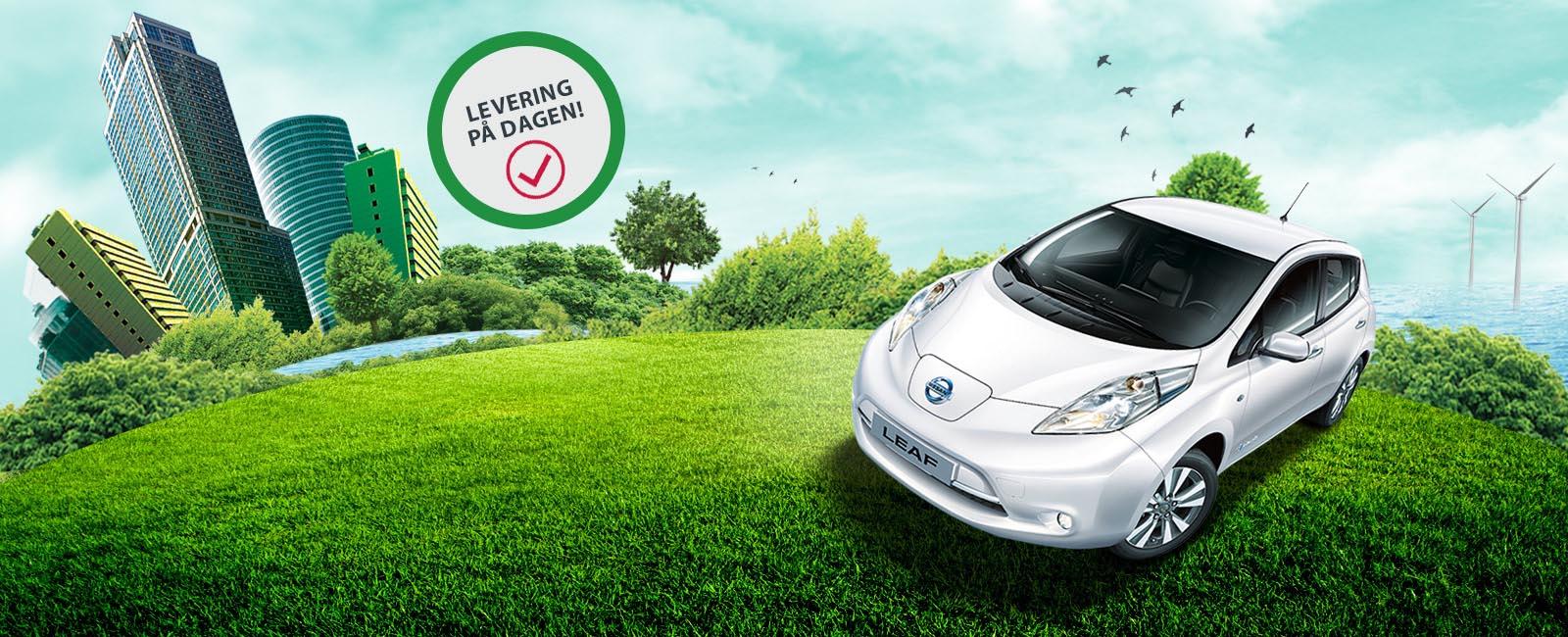 Brukt Nissan Leaf Levert på dagen