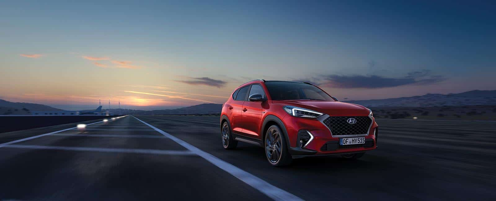 Hyundai Tucson Hybrid kveld