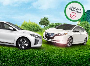 Brukt Nissan Leaf og Hyindai Ioniw