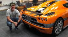 Mats Lunde med Koenigsegg