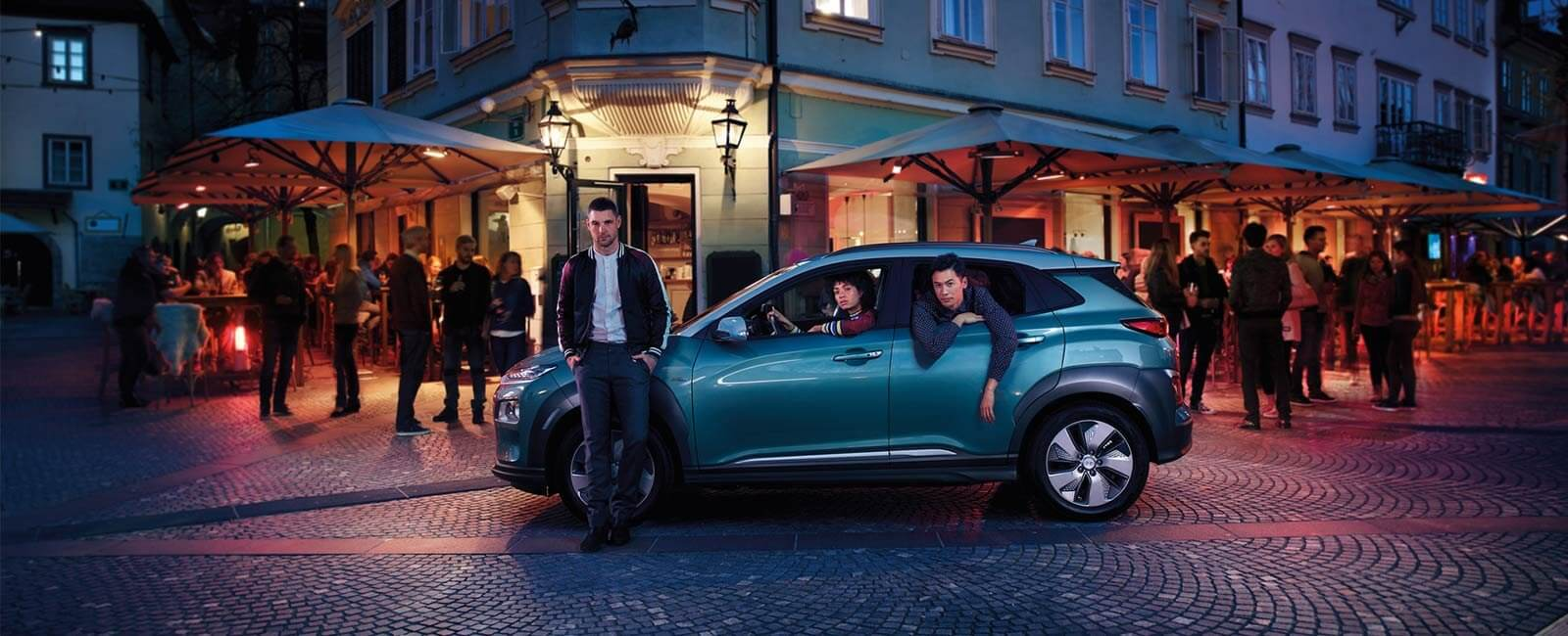 Hyundai KONA nightlife